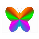 Multicoloured butterfly postcards
