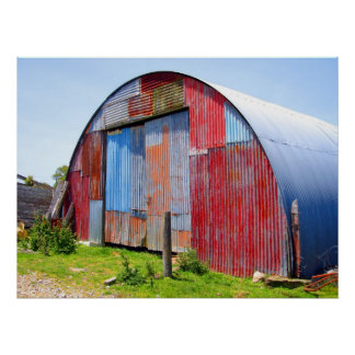Multicoloured Corrugated Steel Shed Posters