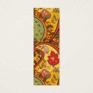 Multicoloured floral paisley mini business card