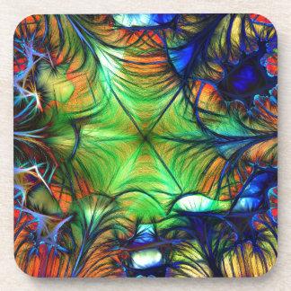 Multicoloured Fractal Beverage Coaster