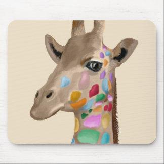 MultiColoured Giraffe Mouse Pad