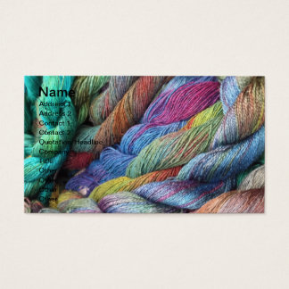 multicoloured hand dyed wool for sale business card