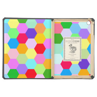 Multicoloured Hexagon Pattern Cover For iPad Air