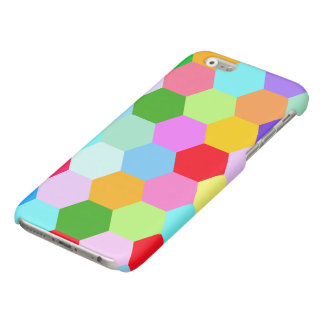 Multicoloured Hexagon Pattern Glossy iPhone 6 Case