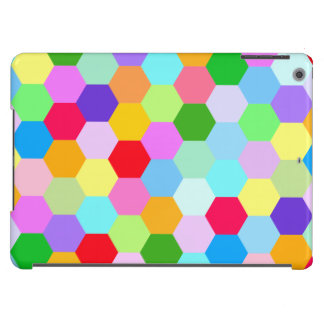 Multicoloured Hexagon Pattern Horizontal Case For iPad Air