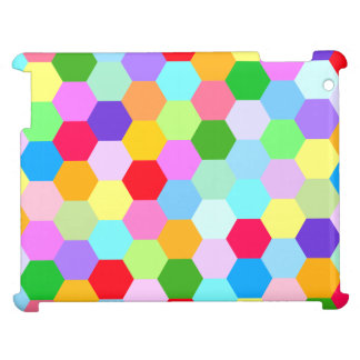 Multicoloured Hexagon Pattern Horizontally Case For The iPad 2 3 4