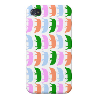 Multicoloured hogs pink blue green orange 4 iPhone 4/4S cover