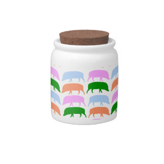 Multicoloured Hogs Pink Blue Green Orange Candy Candy Dish