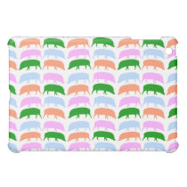 Multicoloured hogs pink blue green orange Cas iPad Mini Cover