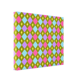Multicoloured Honeycomb Create Your Own Canvas Pri