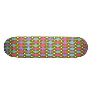 Multicoloured Honeycomb Skateboard
