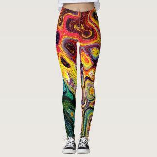 multicoloured lava leggings