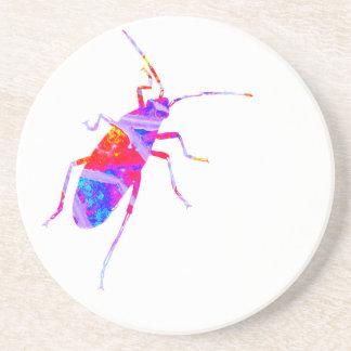 Multicoloured Leaf Bug Coaster