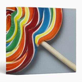 Multicoloured lollipop 3 ring binder