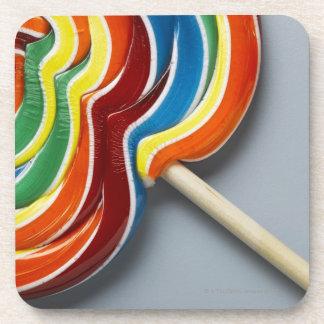 Multicoloured lollipop coasters