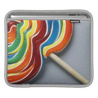 Multicoloured lollipop iPad sleeves
