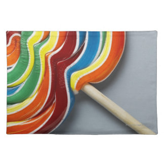 Multicoloured lollipop placemat