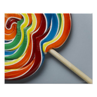 Multicoloured lollipop poster