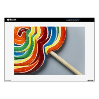 "Multicoloured lollipop skin for 15"" laptop"