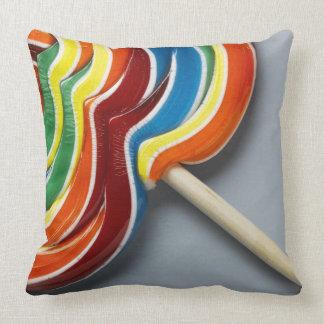 Multicoloured lollipop throw pillow
