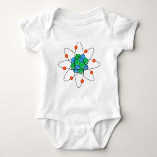Multicoloured nuclear atom infant creeper