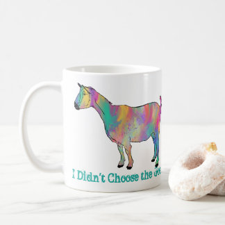 Multicoloured painted Goat Design with Your Name Coffee Mug