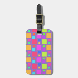 Multicoloured Squares 2011 Tag For Luggage
