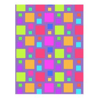 Multicoloured Squares 2011 Postcard