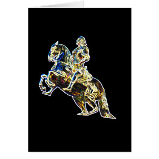 Multicoloured Statue of Horse and Rider Card