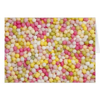 multicoloured sugar sprinkles greeting card