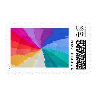 multicoloured vortex on medium stamp