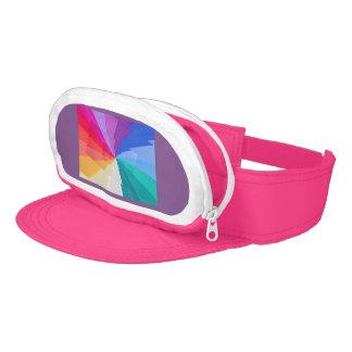 multicoloured vortex on Neon Pink Cap-Sac Visor