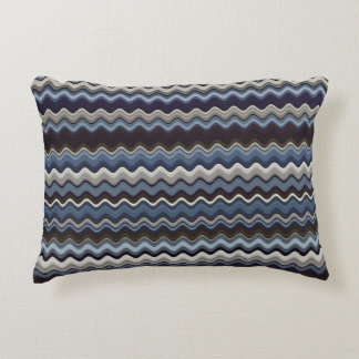 Multicoloured Wavy Pattern Accent Pillow