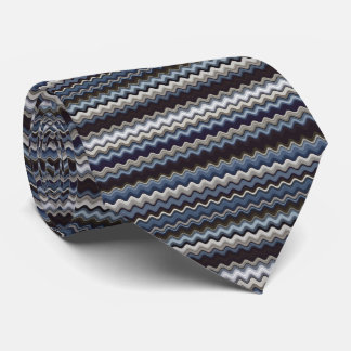 Multicoloured Wavy Pattern Neck Tie