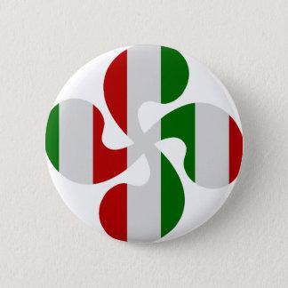 Multicouleurs crosses Basque Pinback Button