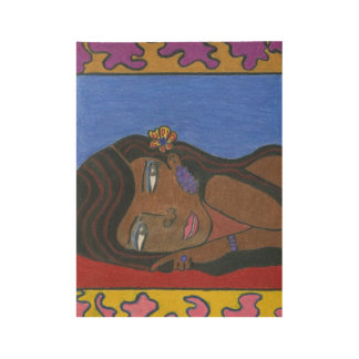 """Multicultural Black Woman Wood Poster, 19"""" x 14.5"""" Wood Poster"""