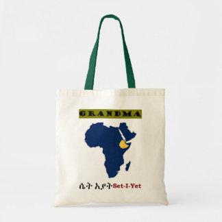 Multicultural Family Handbag--Grandma Budget Tote Bag