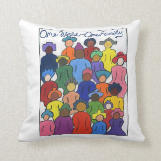 Multicultural Gifts Throw Pillow