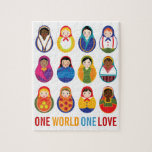 Multicultural Nesting Dolls One Love Jigsaw Puzzles