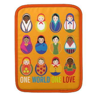 Multicultural Nesting Dolls One Love World Peace iPad Sleeve