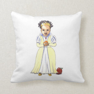 Multicultural Snow White Princess Accent pillow