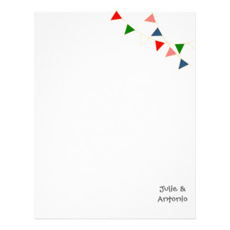 Multicultural Wedding Mexico Bunting Letterhead