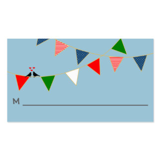 Multicultural Wedding Mexico Bunting Place Card Business Card