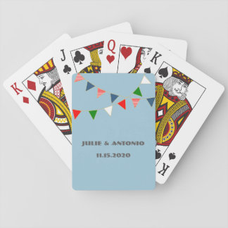 Multicultural Wedding Mexico Bunting Playing Cards