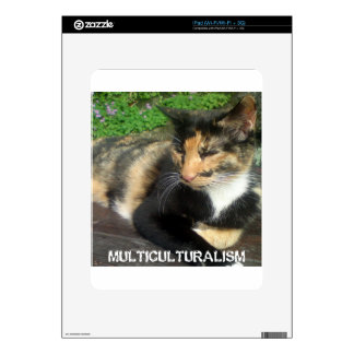Multiculturalism Cat Decal For The iPad