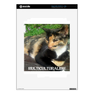 Multiculturalism Cat Decal For The iPad 2