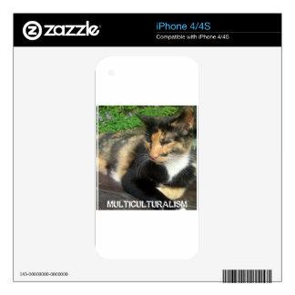 Multiculturalism Cat Decals For iPhone 4S