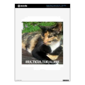 Multiculturalism Cat iPad 3 Decal
