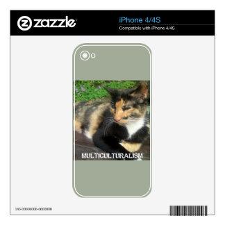 Multiculturalism Cat iPhone 4 Skins