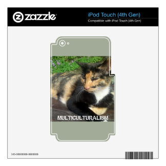 Multiculturalism Cat iPod Touch 4G Decals